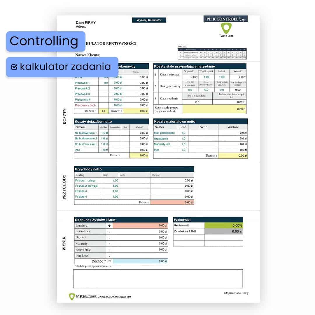 Controlling- Monitoruj opłacalność firmy