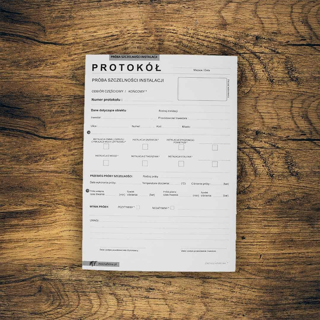 """""""Pakiet Instalatora""""  Samokopiujące protokoły instalacji"""