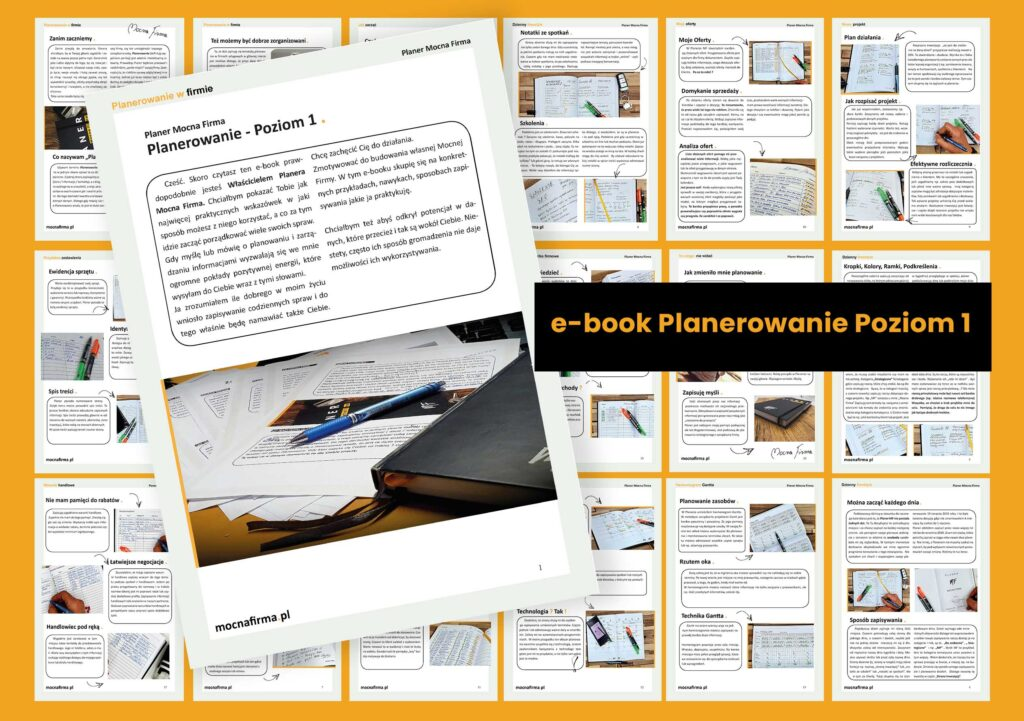 Jak korzystać z Planera Mocna Firma  E-book Planer MF